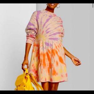 NWT Wild fable Tie Dye Sweatshirt Dress